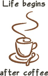 After Coffee embroidery design