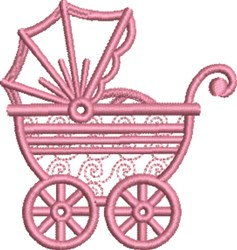 Girl Carriage embroidery design