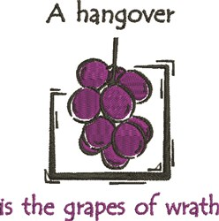 Grapes Of Wrath embroidery design