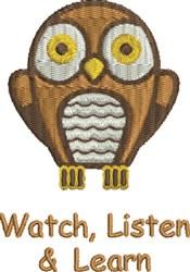 Watch Listen Learn embroidery design