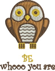 Whooo You Are embroidery design