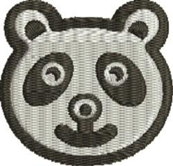 Panda Face embroidery design