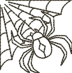 Spider Outline embroidery design