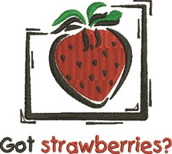 Got Strawberries embroidery design