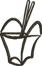 Take Out embroidery design