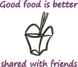 Food Is Better embroidery design