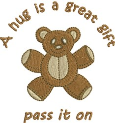 A Great Gift embroidery design