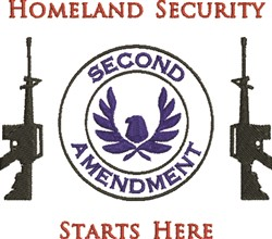 Homeland Security embroidery design