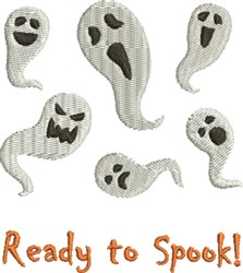 Ready To Spook embroidery design