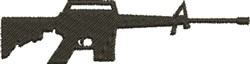 M16 Rifle embroidery design