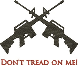 Dont Tread embroidery design