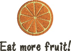 Eat Fruit embroidery design