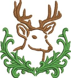 Reindeer Head embroidery design