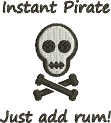 Instant Pirate embroidery design