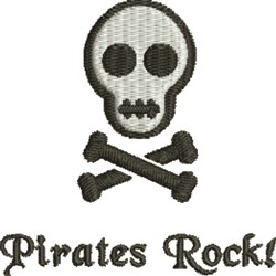 Pirates Rock embroidery design