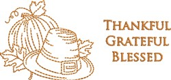 Thankful Grateful embroidery design