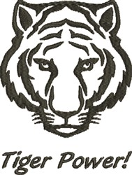 Tiger Power embroidery design
