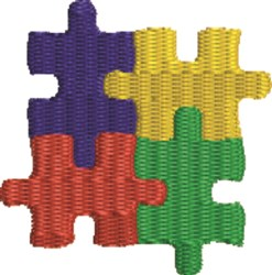 Autism Symbol embroidery design