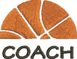 Basketball Coach embroidery design