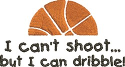 Basketball Dribble embroidery design