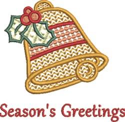 Seasons Greetings Bell embroidery design