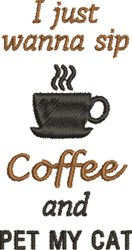 Sip Coffee embroidery design