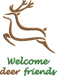 Deer Friends embroidery design
