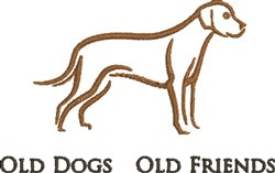 Old Dogs embroidery design