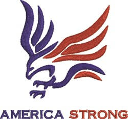 America Strong embroidery design