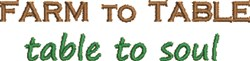 Farm To Table embroidery design