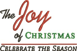 Joy of Christmas embroidery design