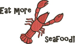 Eat Seafood embroidery design