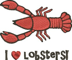 Love Lobsters embroidery design