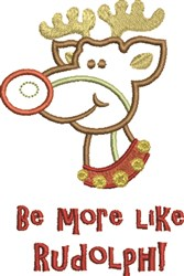 Like Rudolph embroidery design