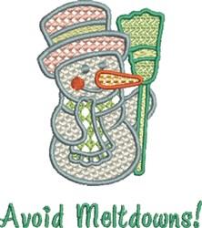 Avoid Meltdowns embroidery design