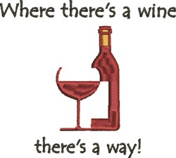 Where Theres Wine embroidery design