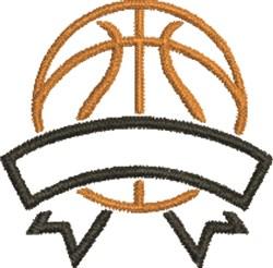 Basketball Banner embroidery design