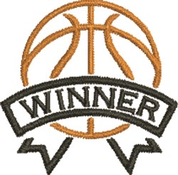 Basketball Winner embroidery design
