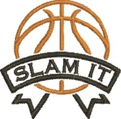 Slam It embroidery design