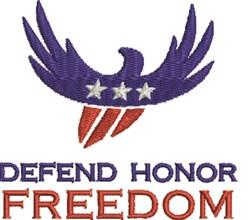 Freedom Eagle embroidery design