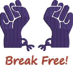Break Free embroidery design