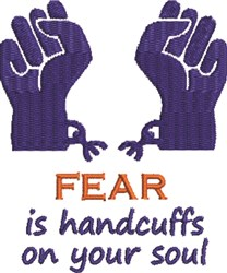 Handcuffs the Soul embroidery design