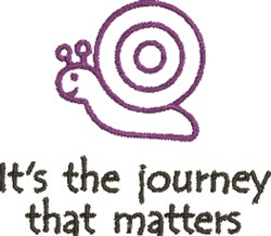 Snail Journey embroidery design