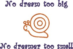 Snail Dream embroidery design