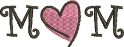 Mom Heart embroidery design