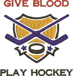 Hockey Blood Donor embroidery design