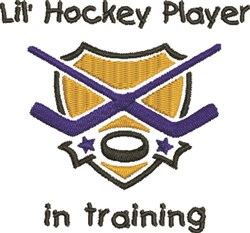 Little Hockey Player embroidery design