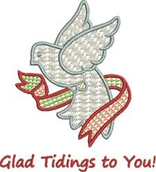 Glad Tidings Dove embroidery design