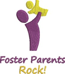 Foster Parent & Child embroidery design