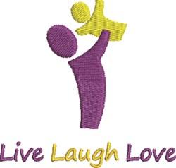 Live Laugh Love embroidery design